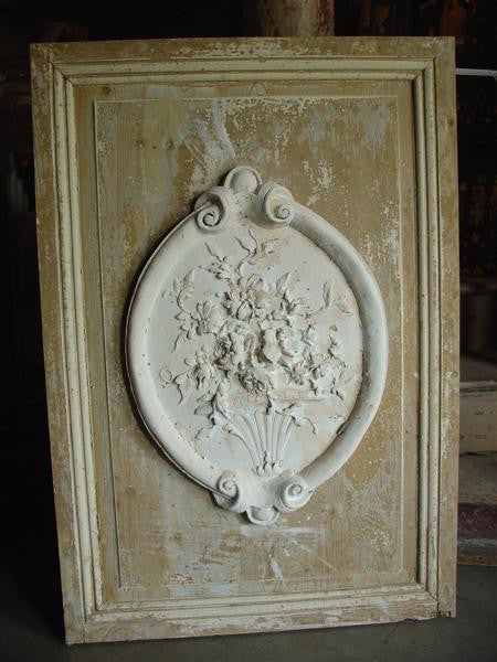 Cast Plaster Medallion Plaque