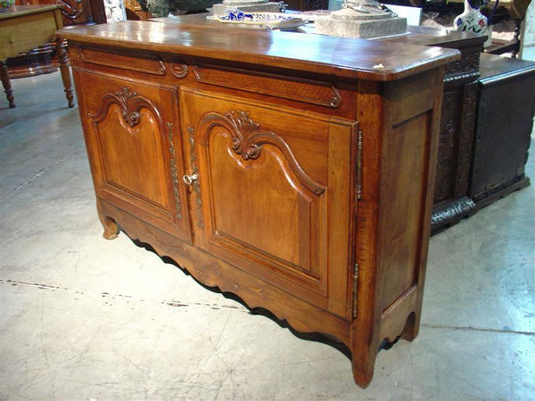 French Walnut Wood Louis XV Style Buffet