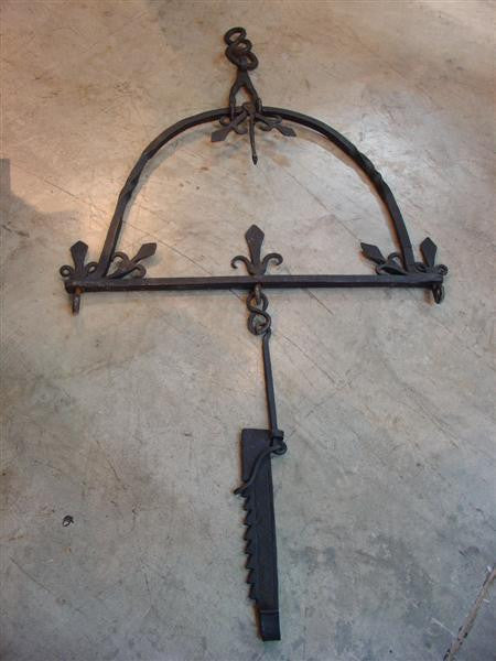 18th Century French Iron Cremailliere