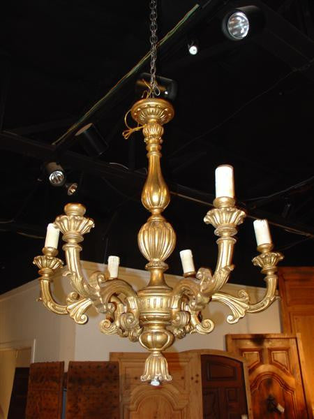 Louis XV Style Giltwood Chandelier-France