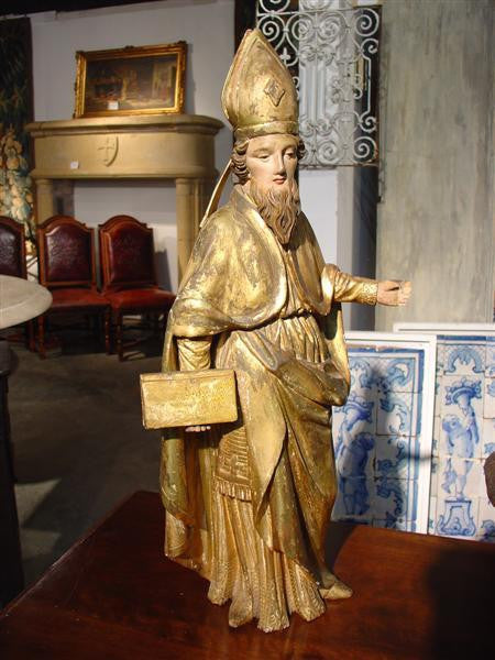 Antique Statue of a Bishop-France 1800s