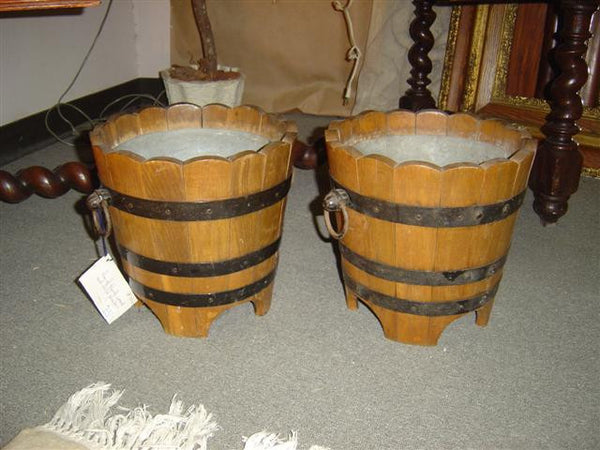 Pair of Wood Planters