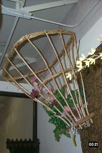 Antique Hanging Grape Basket