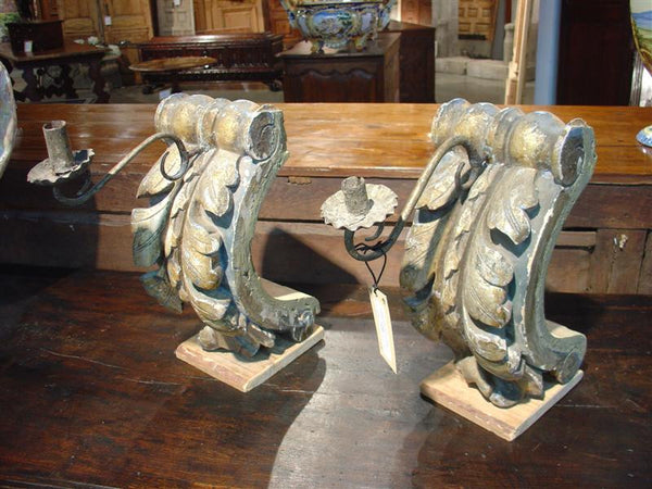 Candlestick Holders Made of Antique Elements-Provence