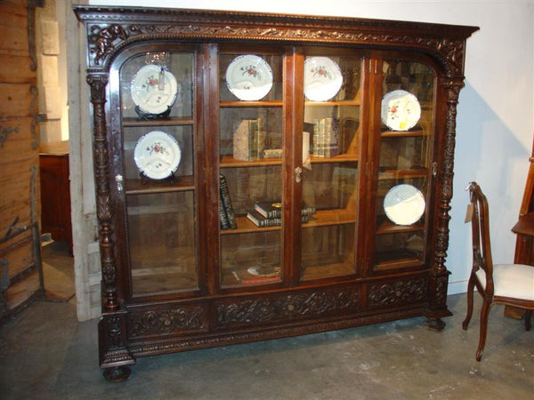 Walnut Wood Bookcase from Spain 19th Century