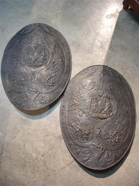 Pair of Decorative Shields from St. Remy, Provence