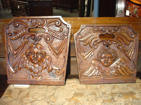 18th Century Walnut Wood Crib Sides-France