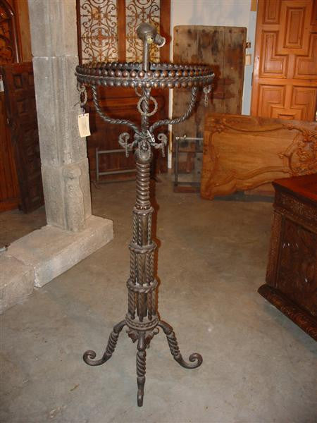 Antique French Two Light Floor Lamp