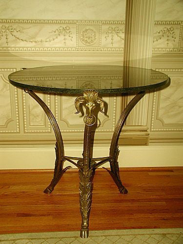 Bronze Granite Table Early La Barge Quality Craftsmanship