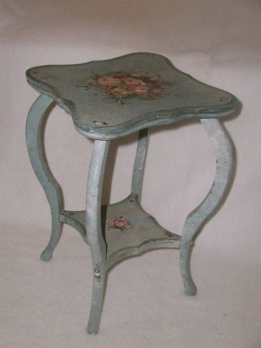 French decorative table hand made painted designs 19th century