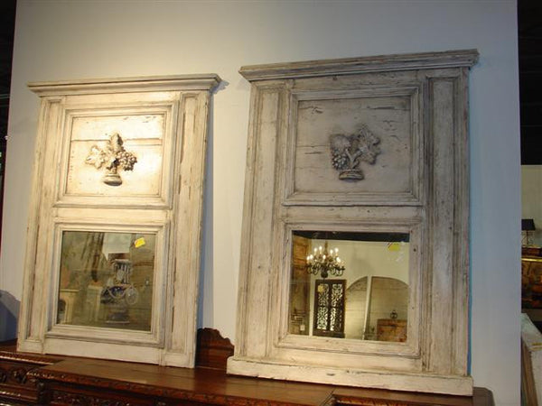 Beautiful Pair of Mirrors Made from 1860's French Boiserie Panels