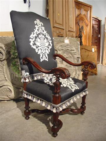 18th Century Walnut Wood Italian Armchair