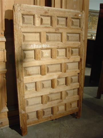 Antique Walnut Wood Door from Spain