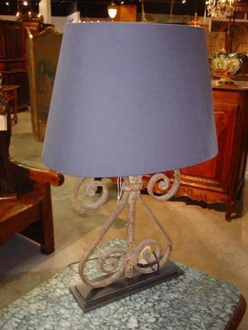 Antique Iron Lamp from France
