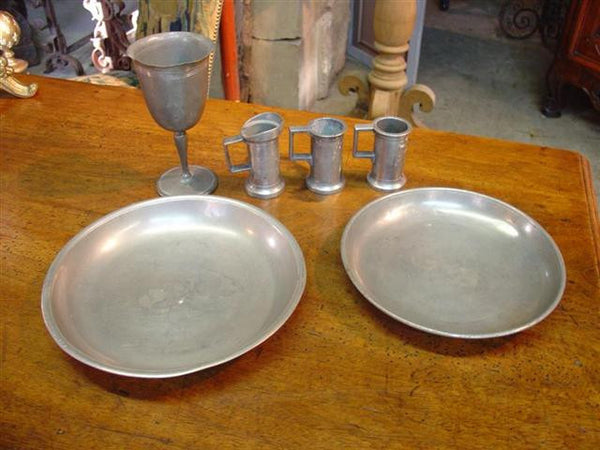 Antique Pewter Dishes
