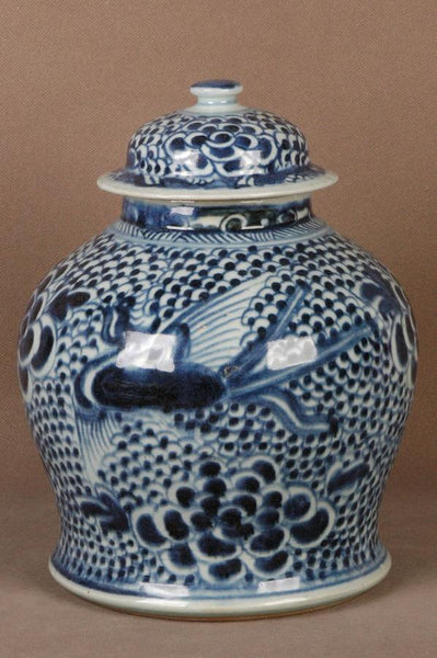 Chinese Qing Blue and White Porcelain Jar Jiaqing , 19C