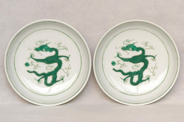 Masterpiece Pair of Chinese Qing Plates Tongzhi Mark & Period