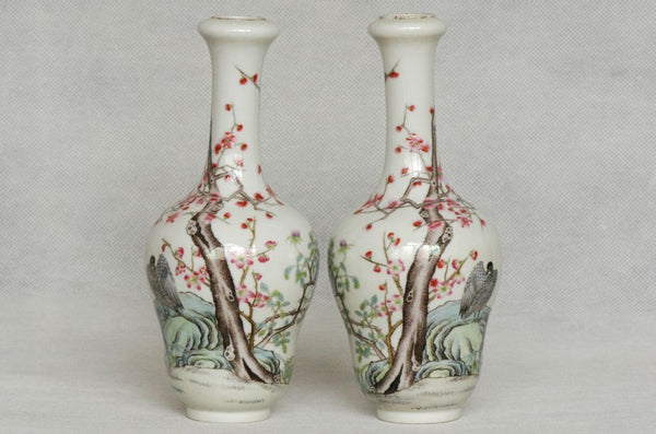 Masterpiece Pair of Chinese Qing Vase Xianfeng Mark & Period