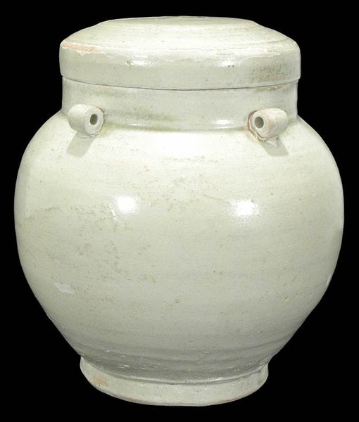 Chinese Song Dynasty Qingbai Jar w Cover , 1000 AD