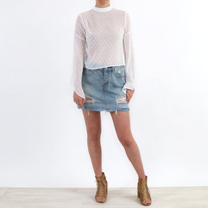 Pom Pom Textured Top