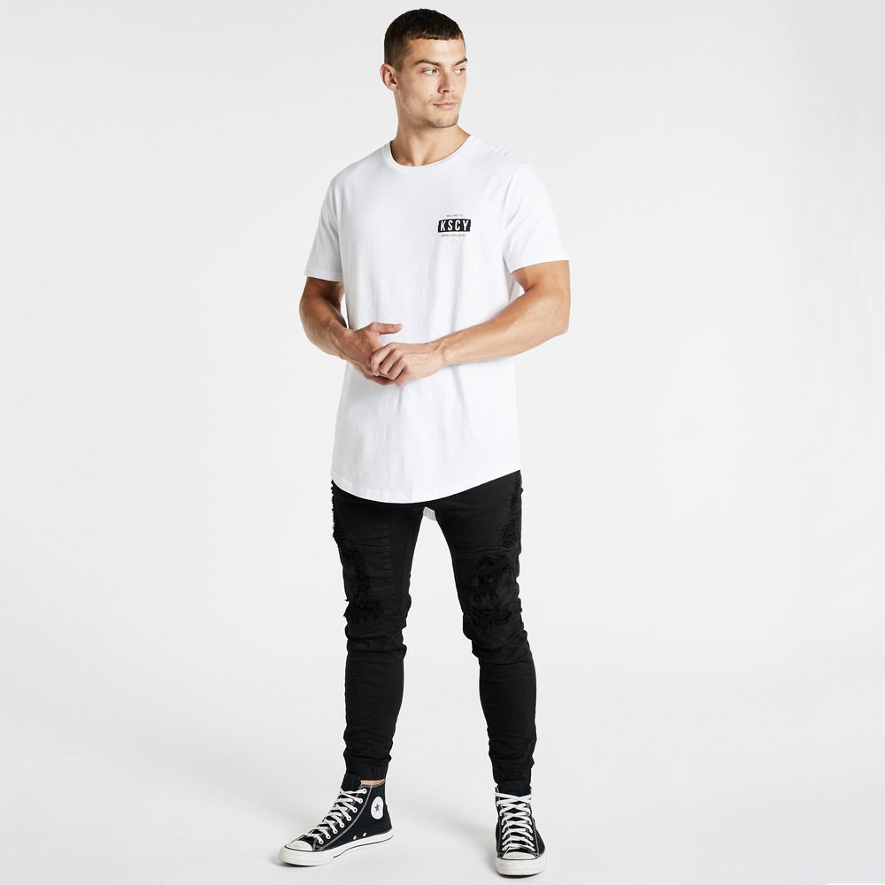 Crash And Burn Dual Curved T-Shirt White