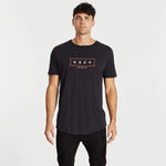 Honorary Dual Curved T-Shirt Jet Black
