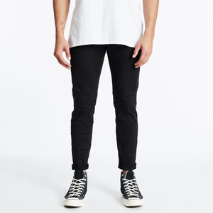 K3 Tapered Turn Up Jeans Black