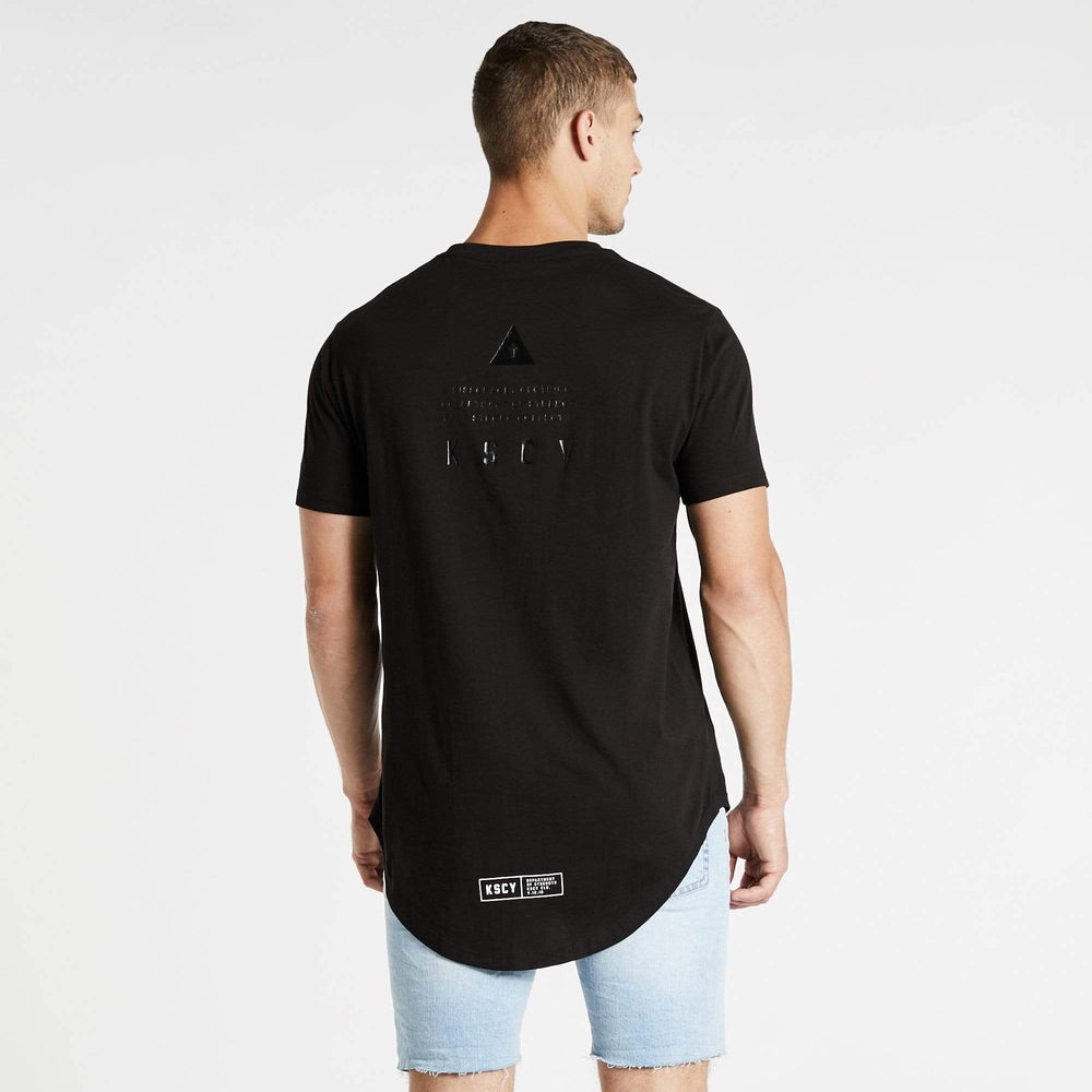 Keep Strong Dual Curved T-Shirt Jet Black