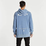 Lost Boys Step Hem Hoodie Acid Blue