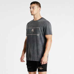 Miami Relaxed T-Shirt Anthracite Black