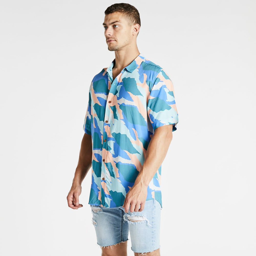 Multiply Relaxed Short Sleeve Shirt Multi Colour Print