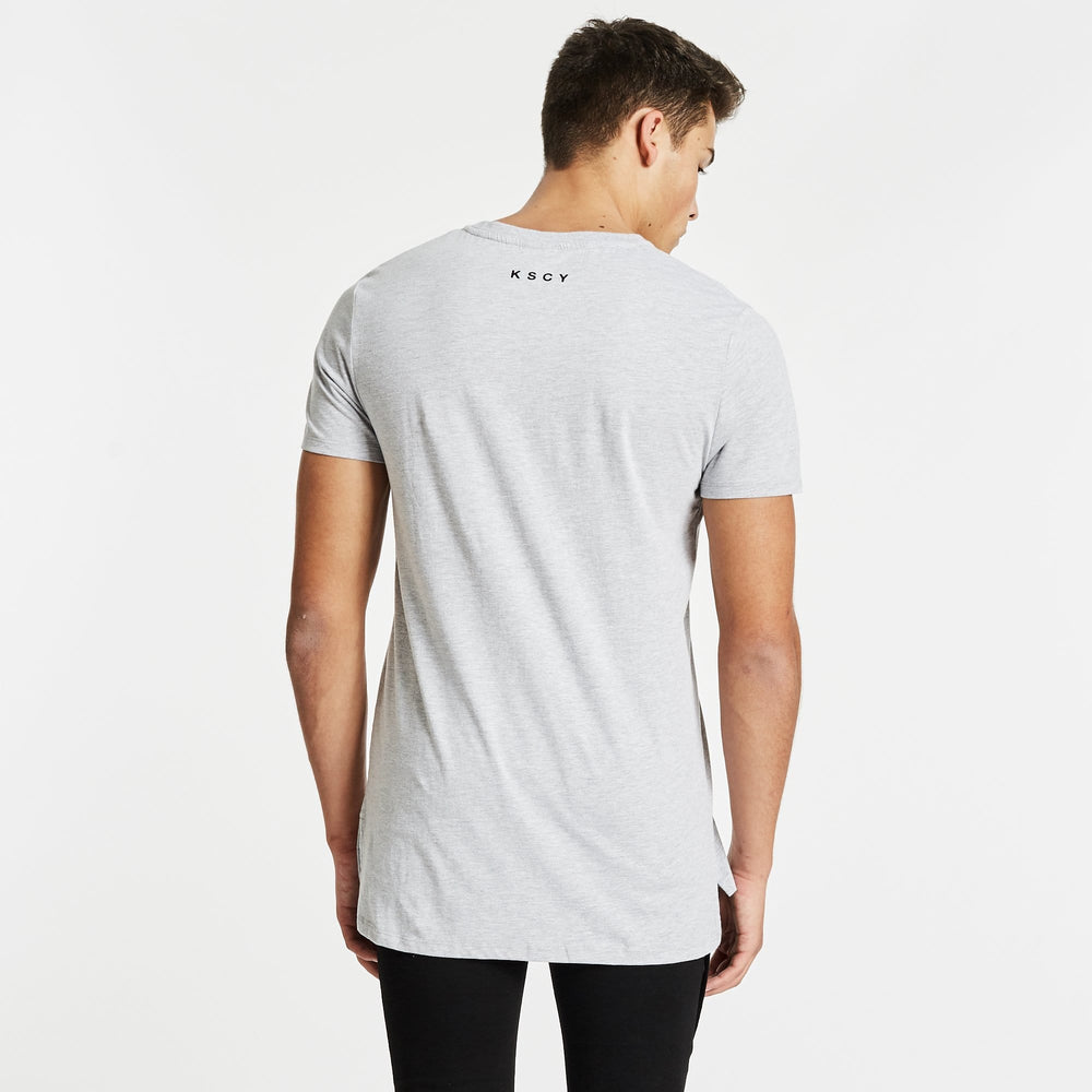Pace Step Hem T-Shirt Grey Marle