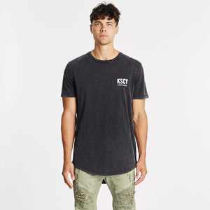Paradise State Dual Curved T-Shirt Acid Black