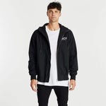 Pioneer Hooded Zip-Up Jacket Jet Black