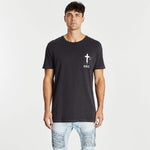 Romantic Step Hem T-Shirt Pigment Asphalt