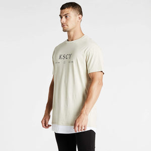 Save Us Relaxed Layered T-Shirt Pigment Sand