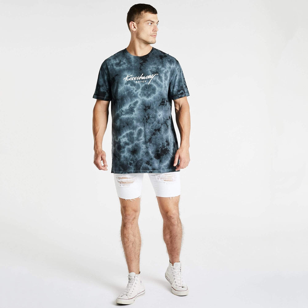 Silver Surfer Relaxed T-Shirt Tie Dye Black/Blue