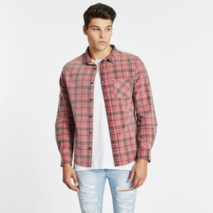 Trusted Casual Shirt Burgandy/Black Check