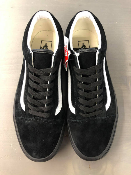 Vans old skool suede (black/black/white)