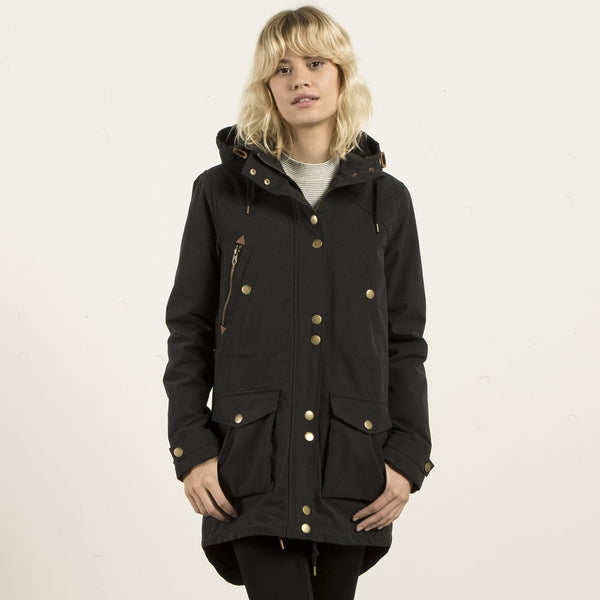VOLCOM walk on by parka (black)