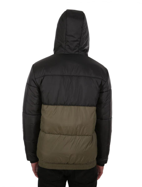 IRIEDAILY stagger hood jacket (black/olive)