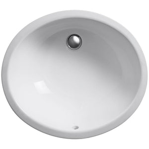 Caxton Oval Undermount Bathroom Sink - Highland Ridge Custom Home Remodeling