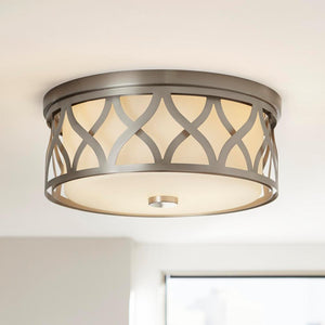Home Decorators 3-Light Brushed Nickel Flush Mount - Highland Ridge Custom Home Remodeling