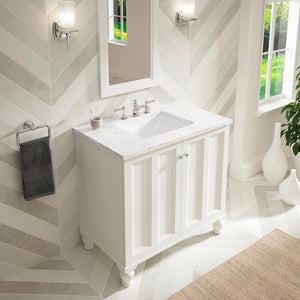 Caxton Rectangular Undermount Bathroom Sink - Highland Ridge Custom Home Remodeling
