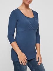 MAMALICIOUS 3/4 sleeve nursing top - Mama Basics