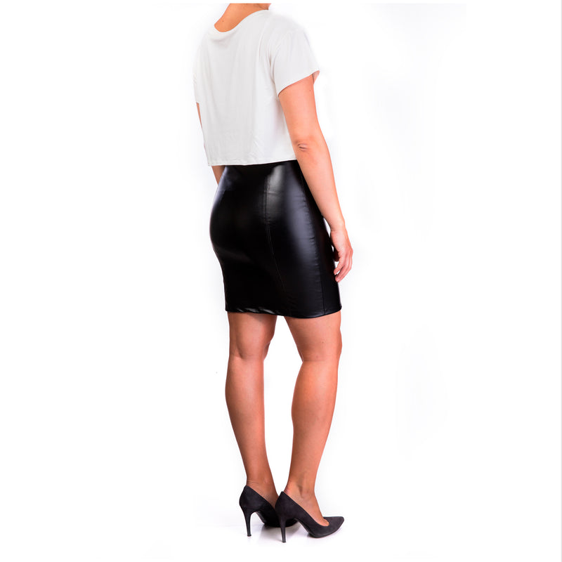 Eco Leather skirt nursing dress