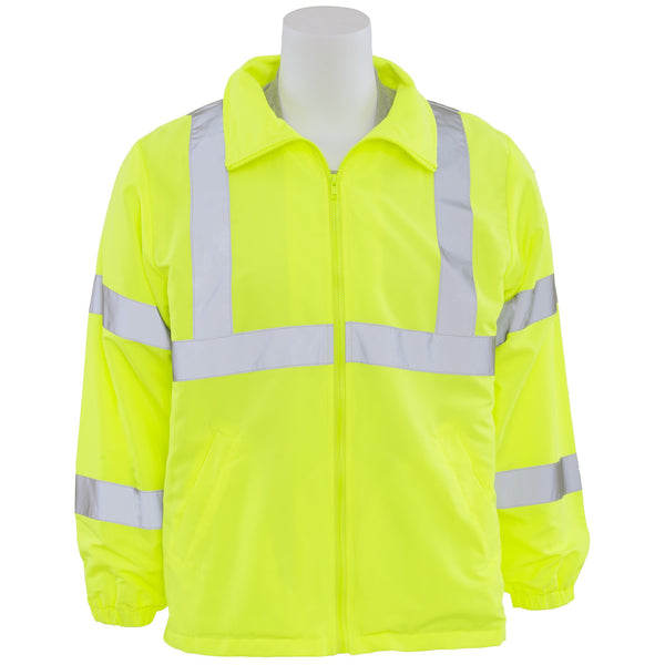 ERB S374 Class 3 Windbreaker Jacket - Yellow/Lime