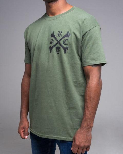 Old English Logo Military Green Tshirt
