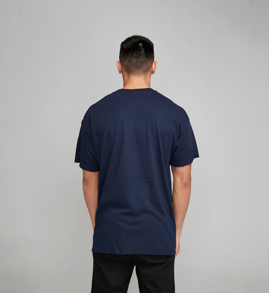 Tri-Colour R Navy Tshirt