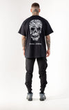 RSC Striped Skull Black Tshirt - Back print